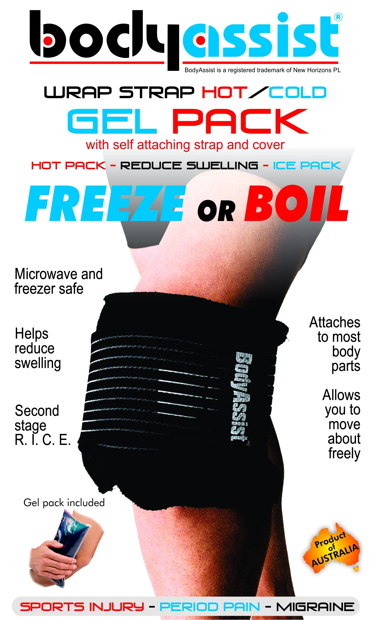 Deluxe Gel Pack with Strap & Bag