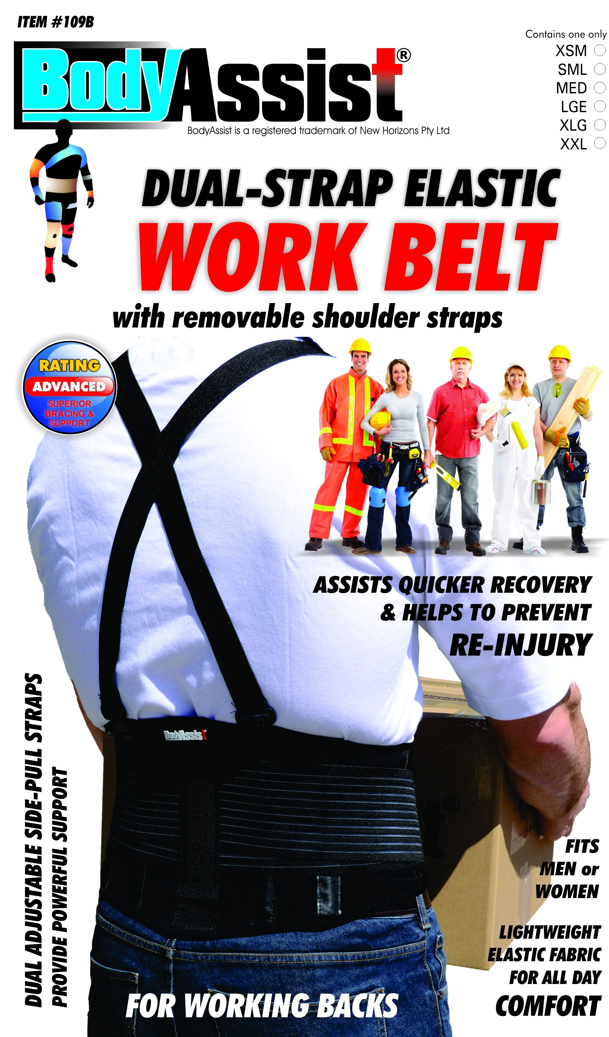 Back Support with Shoulder Straps