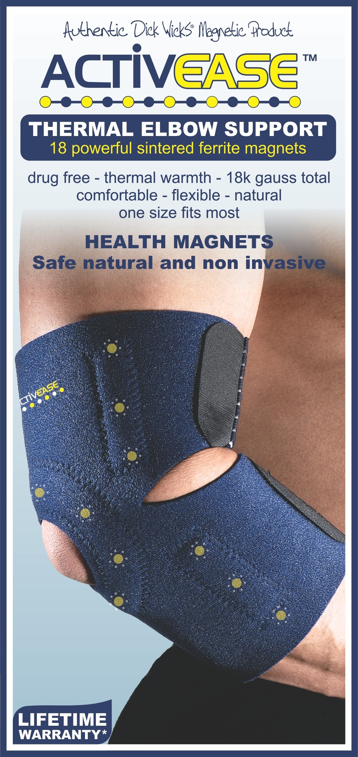 Activease Thermal Elbow Support with Magnets by Dick Wicks