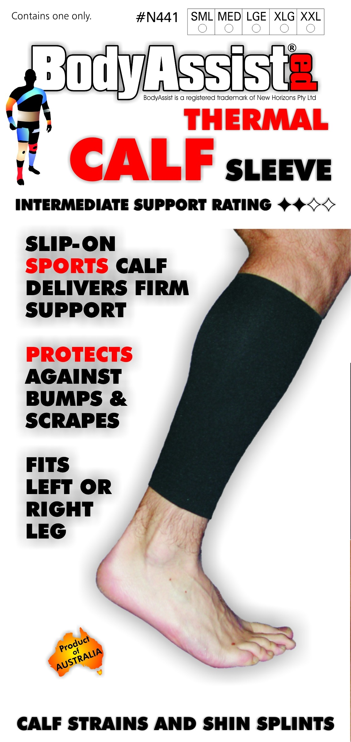 Slip-On Thermal Calf Support
