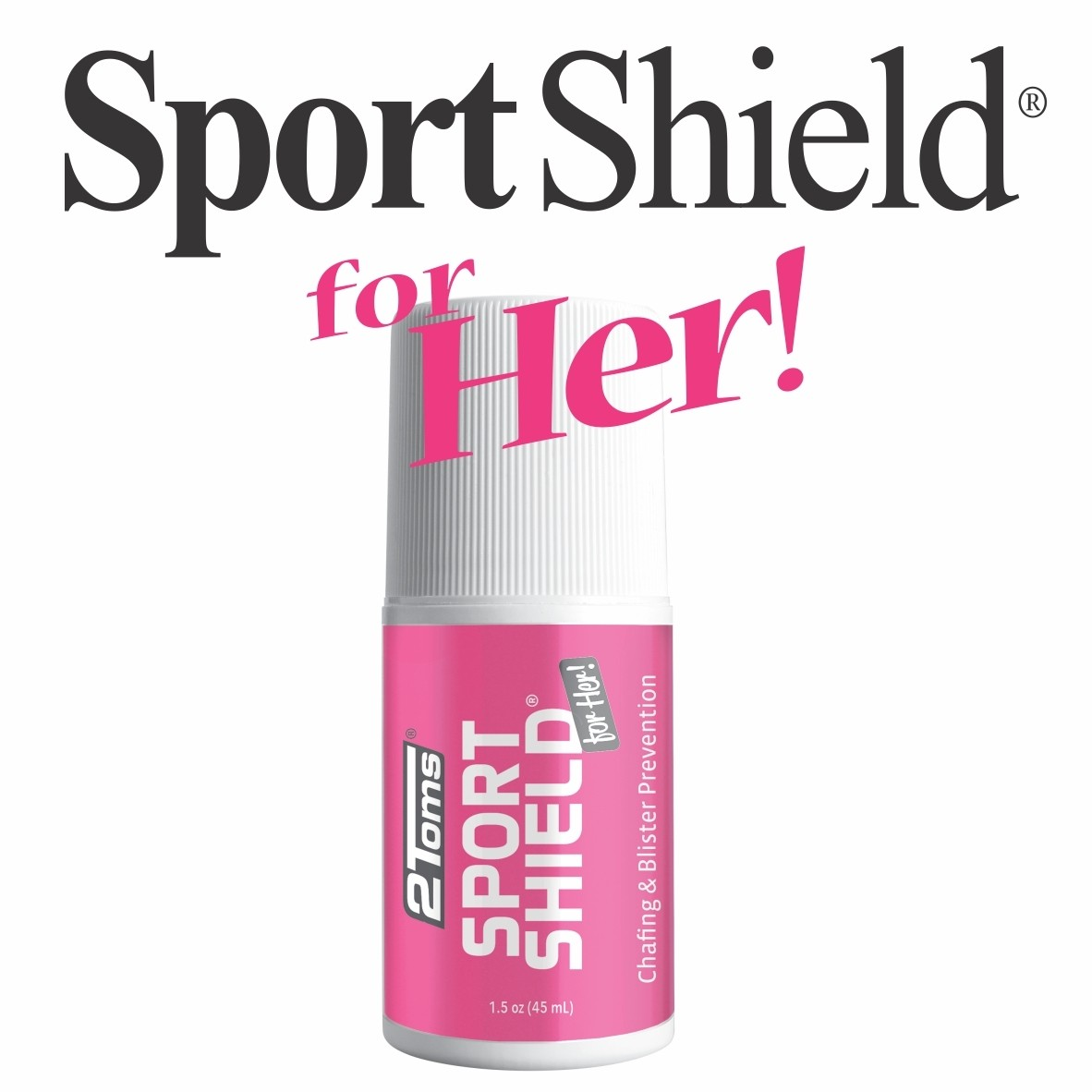 2Toms SportShield for HER 1.5oz Roll-On