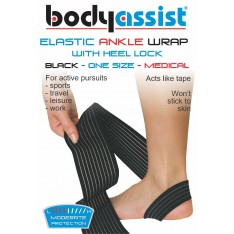 Elastic Ankle Wrap with Loop Anchor One size BLACK or BEIGE