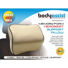 Memory-Foam Headrest Support Pillow