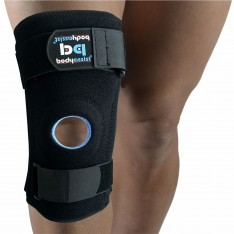Patella Knee Support with Side Stays Black