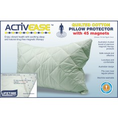 Activease Premium COTTON Pillow Protector with 45 Dick Wicks Magnets