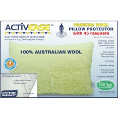 Activease Premium Wool Pillow Protector with 45 Dick Wicks Magnets