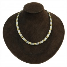 Screw Head Brushed Gold/Silver Necklace