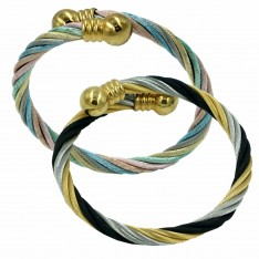Ball Twist Cable Bangle