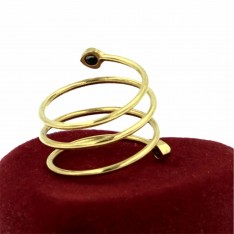 Magnetic Fashion Fine Spiral Ring Gold