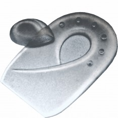 Silicone Gel Heel Spur Pads with Removable Plug