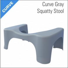 Squatty Potty Curve Foot Stool Gray
